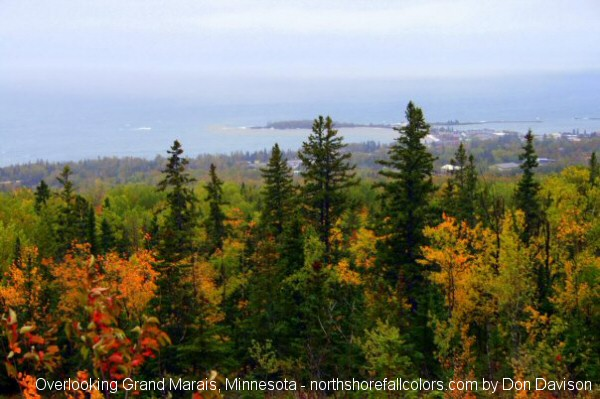 Overlooking Grand Marais Minnesota